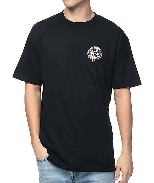 Trippy Burger Logo Black T-Shirt