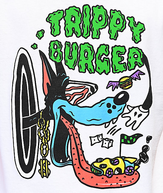Trippy Burger Tom camiseta blanca