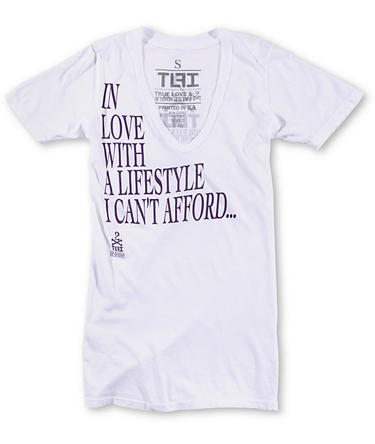 True Love & False Idols Lifestyle White T-Shirt