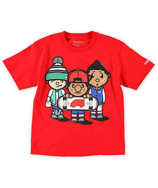 Trukfit Boys 3 Times Dope Red T-Shirt