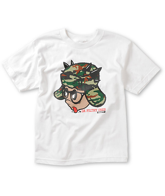 Trukfit Boys Filthy Ones White T-Shirt