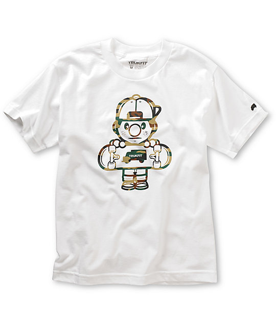 Trukfit Boys Lil Tommy 3 White T-Shirt