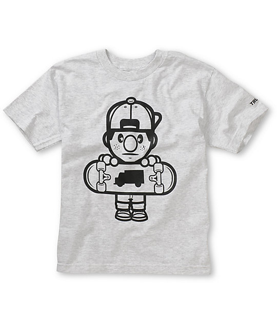 Trukfit Boys Lil Tommy Core Grey T-Shirt