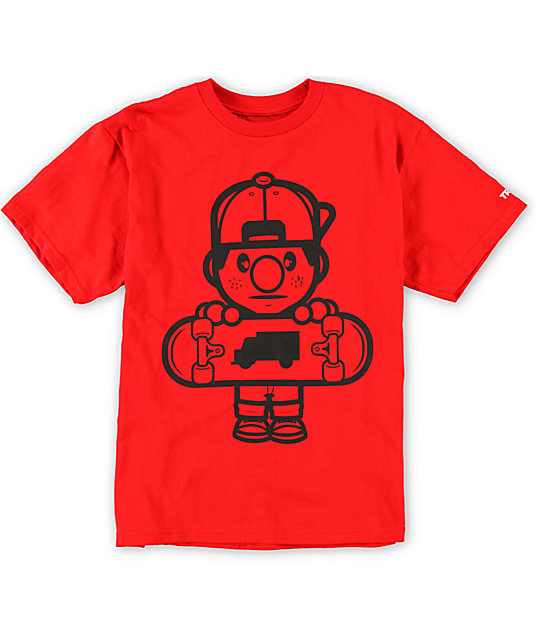 Trukfit Boys Lil Tommy Core Red T-Shirt