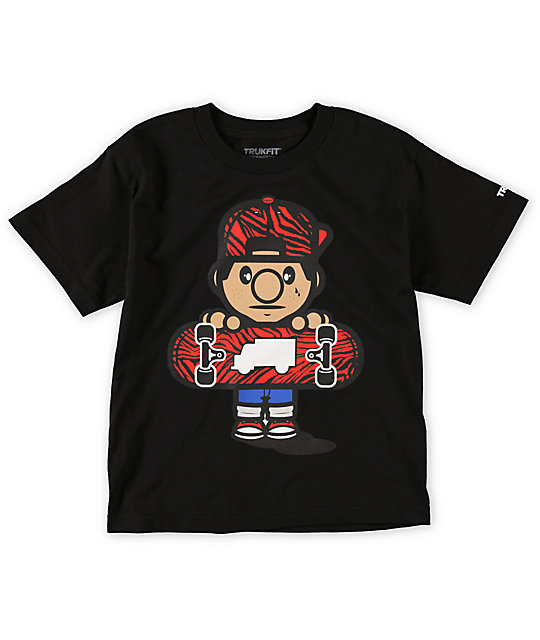 Trukfit Boys Lil Tommy Zebra Black T-Shirt