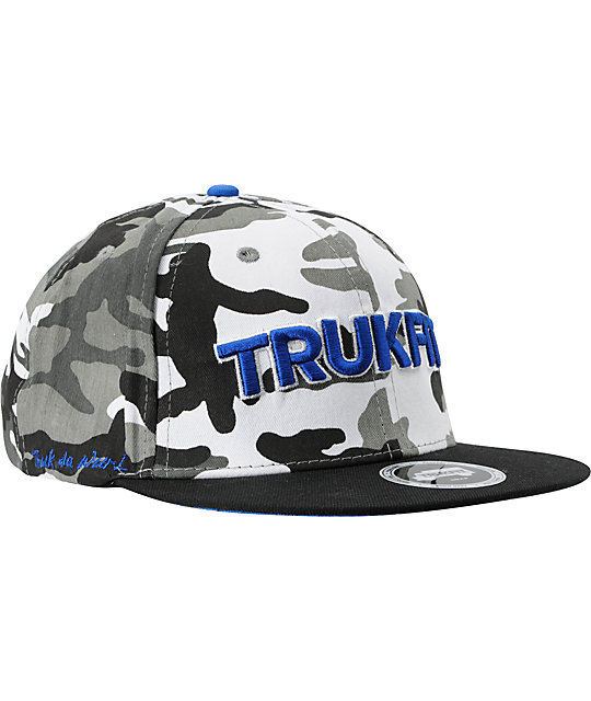 Trukfit Camo Grey Camouflage Snapback Hat