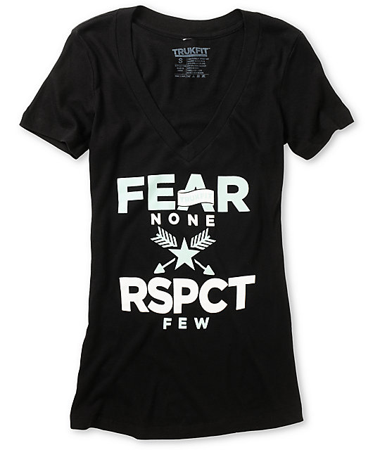Trukfit Fear None Black V-Neck T-Shirt