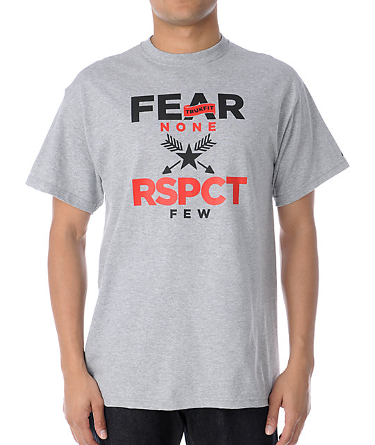 Trukfit Fear None Heather Grey T-Shirt