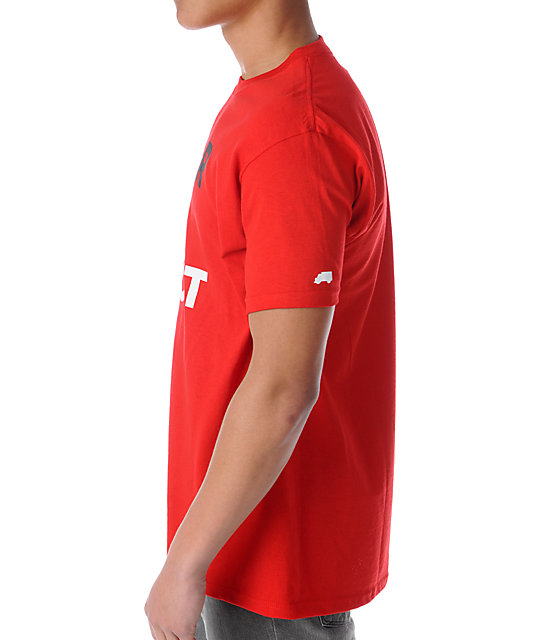 Trukfit Fear None Red T-Shirt
