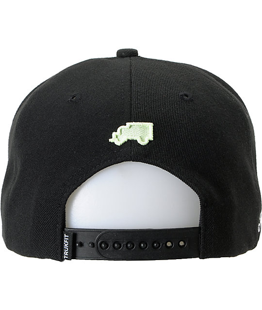 Trukfit Feelin Spacey Black & Glow In The Dark Snapback Hat