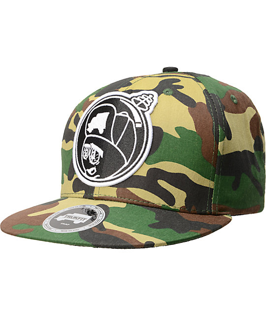 Trukfit Feelin Spacey Camo Snapback Hat . 8216de60efea