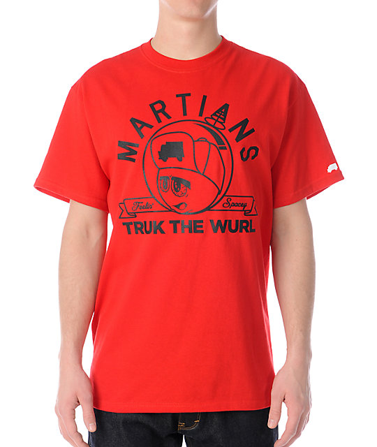 Trukfit Feelin Spacey Martians Red T-Shirt