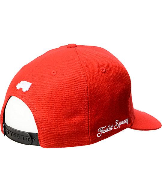 98711d8f1fac0 ... Trukfit Feelin Spacey Red Snapback Hat ...