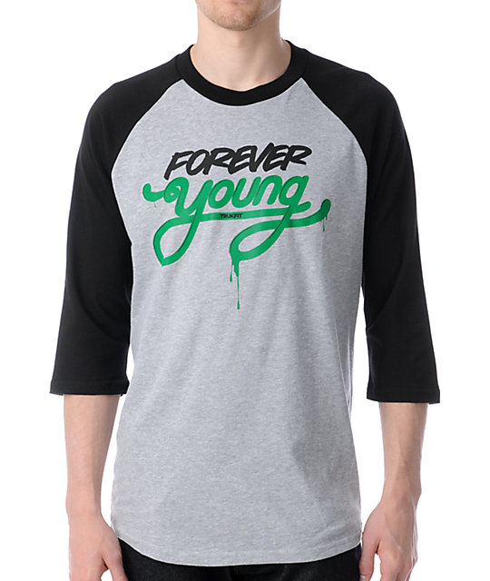 Trukfit Forever Young Grey Baseball T-Shirt