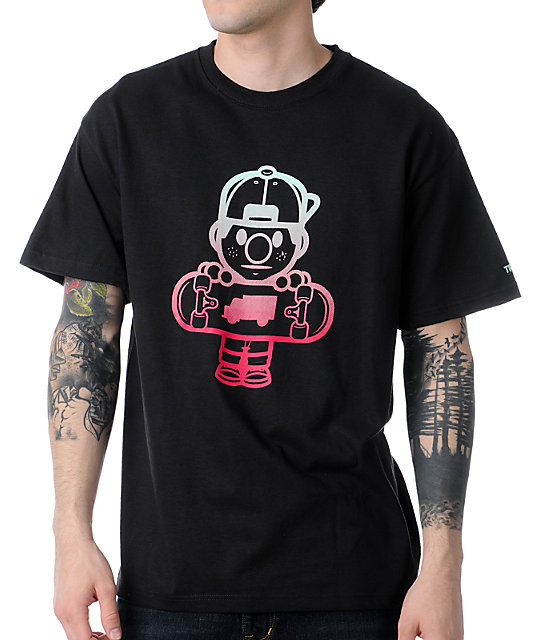 Trukfit Lil Tommy Black & Red Fade T-Shirt
