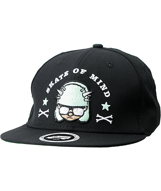 56d93dceed0 Trukfit Misfits Black   Mint Snapback Hat
