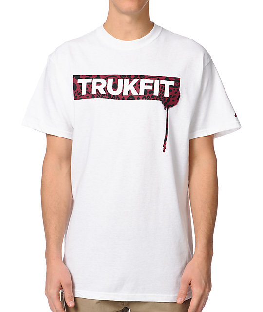 Trukfit Original Drip Cheetah White T-Shirt