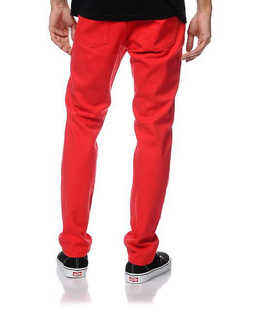 Trukfit Original Red Super Skinny Jeans