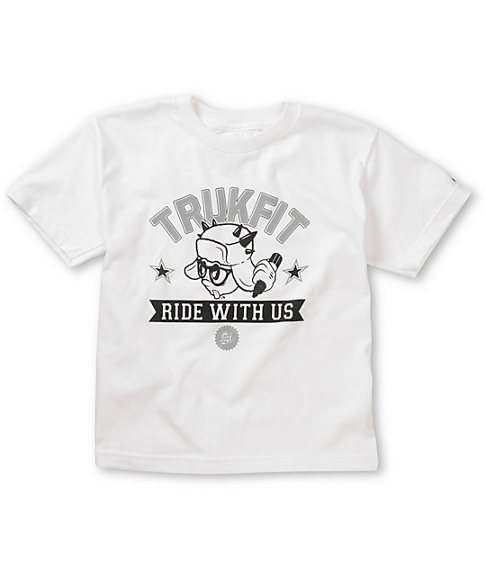 Trukfit Ride With Us Boys White T-Shirt