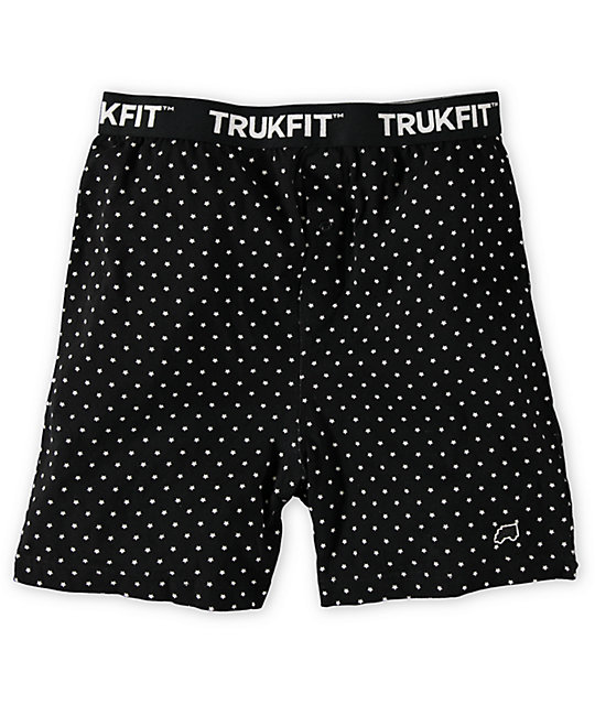 Trukfit Star Polka Dot Black Knit Boxers