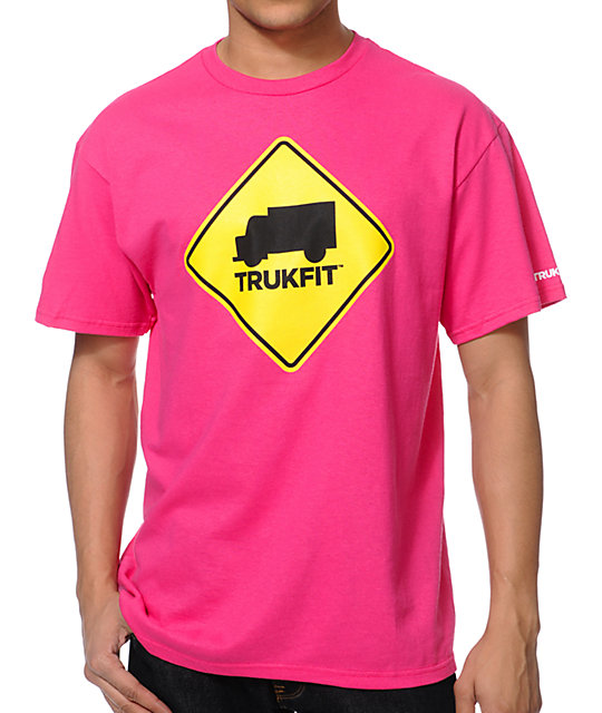 Trukfit Stop Pink T-Shirt