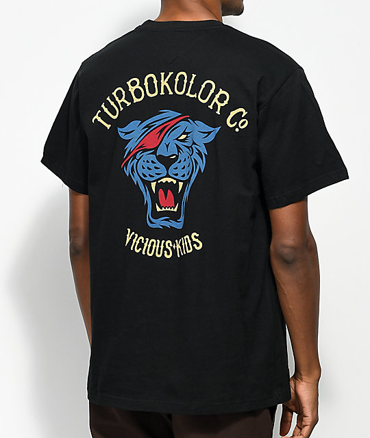 Turbokolor Co. OG Tiger  camiseta negra y multi color