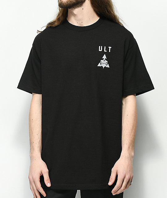 ULT Ghosted Skull Black T-Shirt