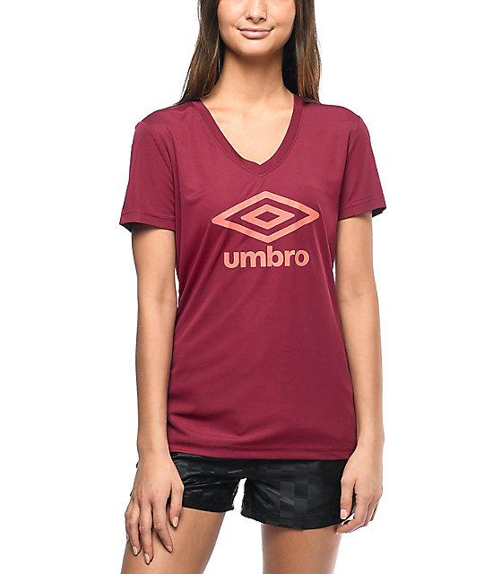 eb43243cbe Umbro Athletic Burgundy Logo T-Shirt | Zumiez