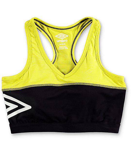 f71b2789f2 ... Umbro Black   Neon Padded Sports Bra