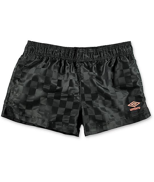 af875c09c6 Umbro Checkerboard Black Athletic Shorts | Zumiez