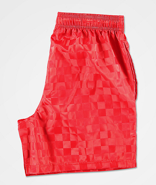 4767621fca Umbro Checkered Red Shorts | Zumiez