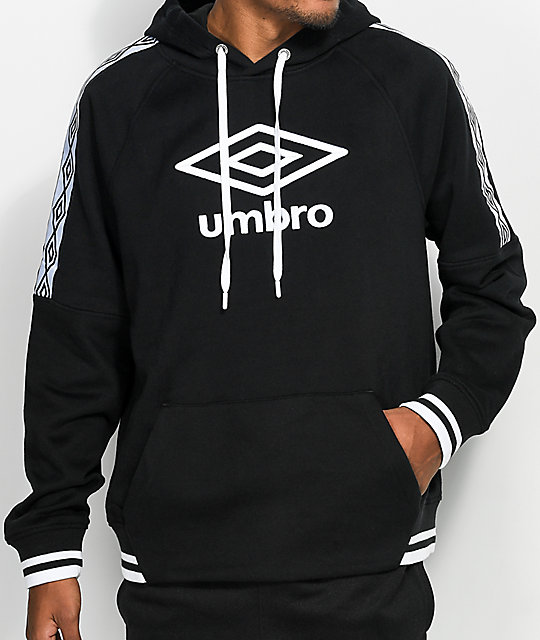 Umbro Sueded Fleece sudadera negra con capucha