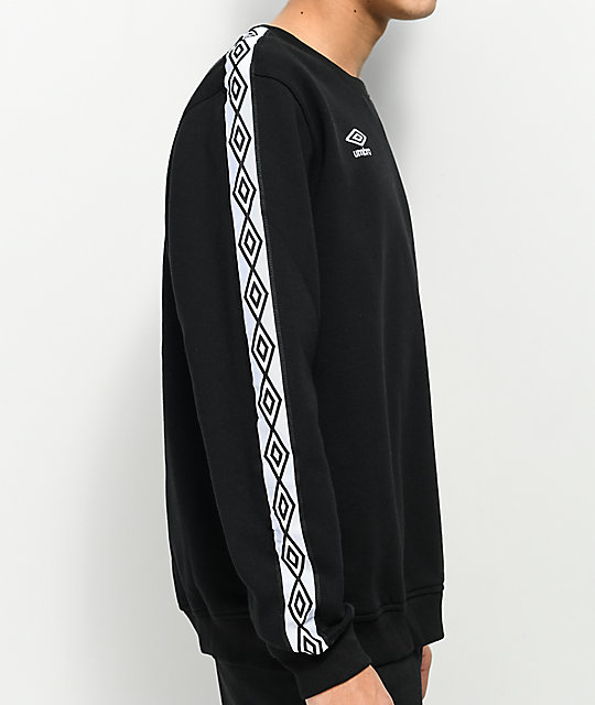 Umbro Taped Black Crew Neck Sweatshirt