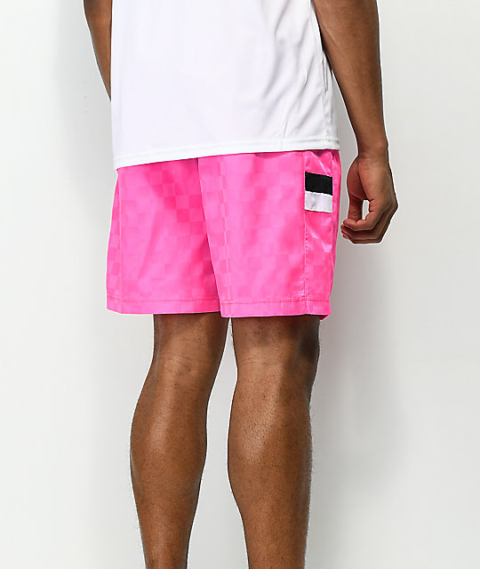 Umbro Tri-Checkered Pink Shorts