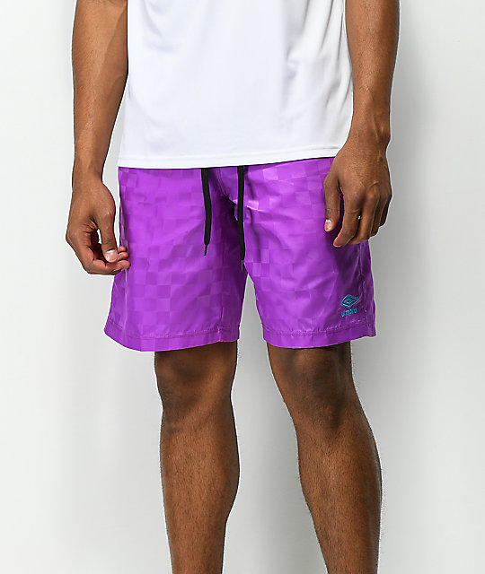 Umbro Tri-Checkered Purple Shorts