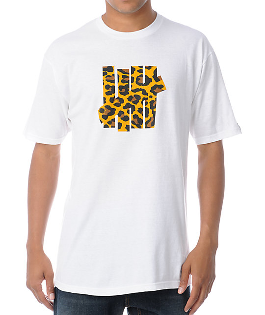 Undefeated 5 Strike Leopard White T-Shirt