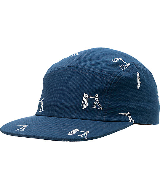Undefeated Action Camp Navy 5 Panel Hat  3099b6a5cd7c