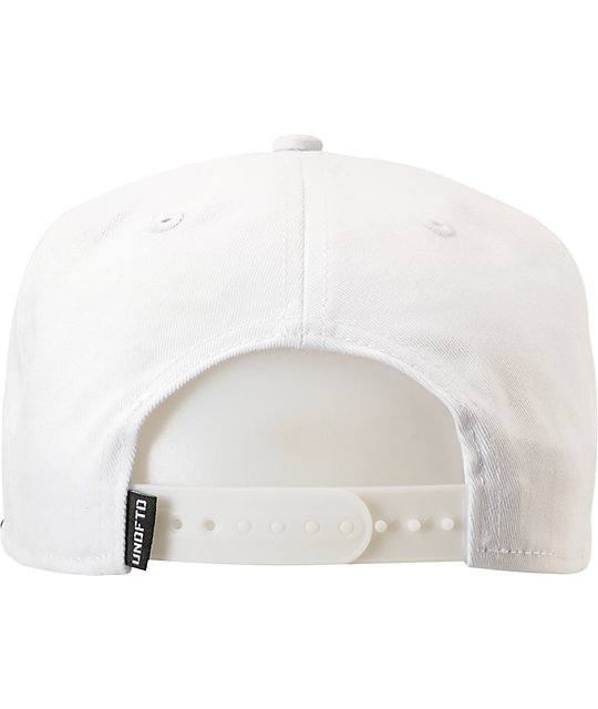 Undefeated Five Strike White & Black 2-Tone Snapback Hat