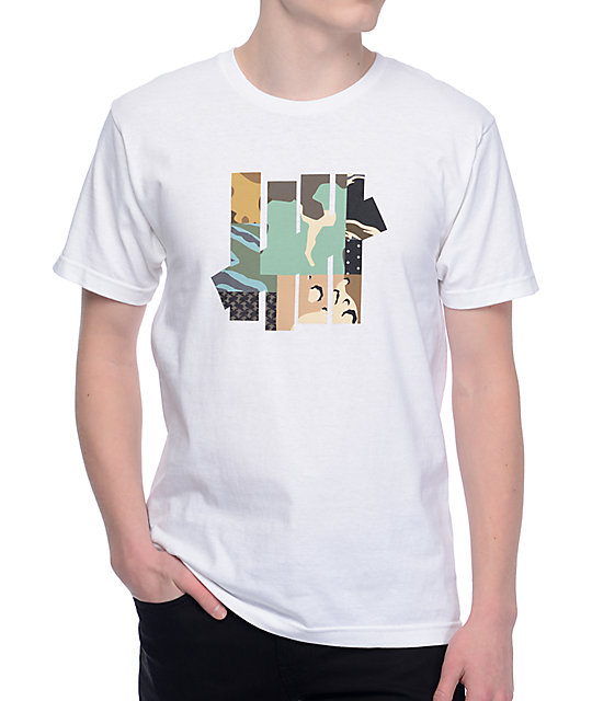 Undefeated Patchwork Strike White T-Shirt