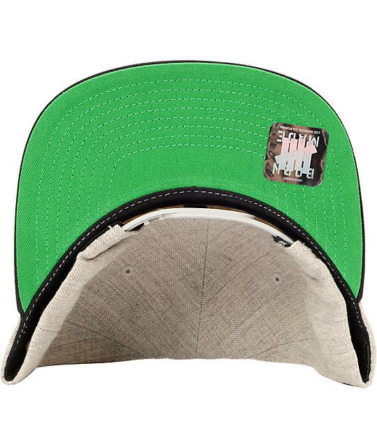 8fd5a56b Undefeated Tiger Grey Snapback Hat | Zumiez