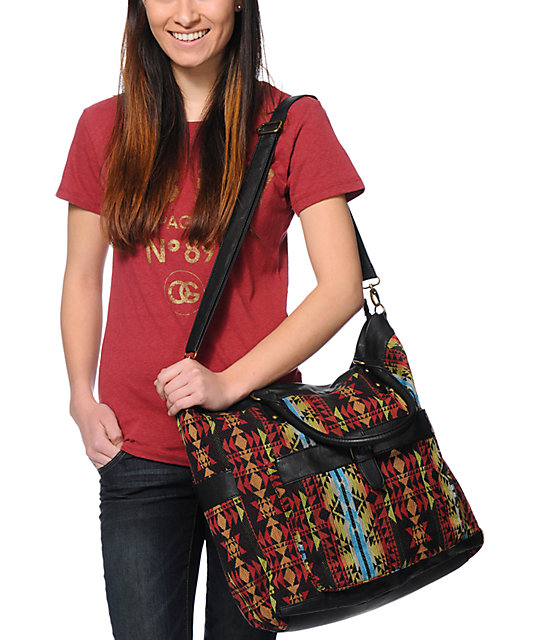Under One Sky Multicolor Aztec Print Tote Bag