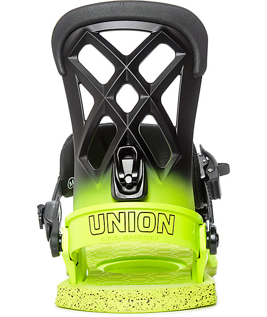 Union Contact Pro Volt Yellow Snowboard Bindings