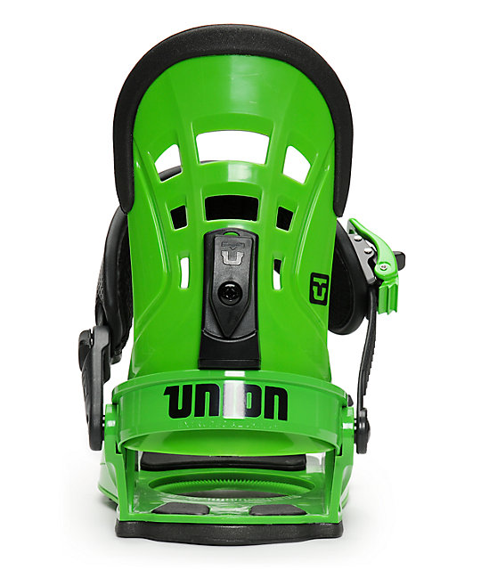 Union DLX Green Snowboard Bindings