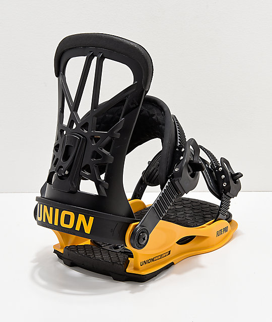 Union Flight Pro Black & Yellow Snowboard Bindings 2019