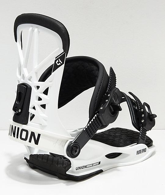 Union Flight Pro White Snowboard Bindings 2019