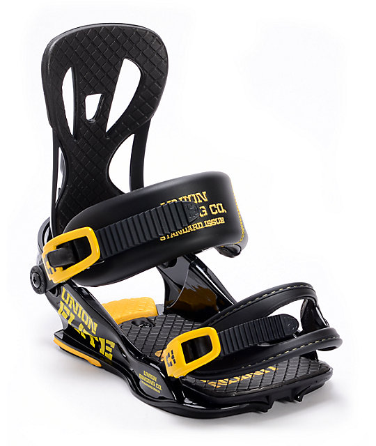 Union Flite Black Snowboard Bindings