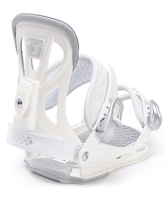 Union Flite White Womens Snowboard Bindings