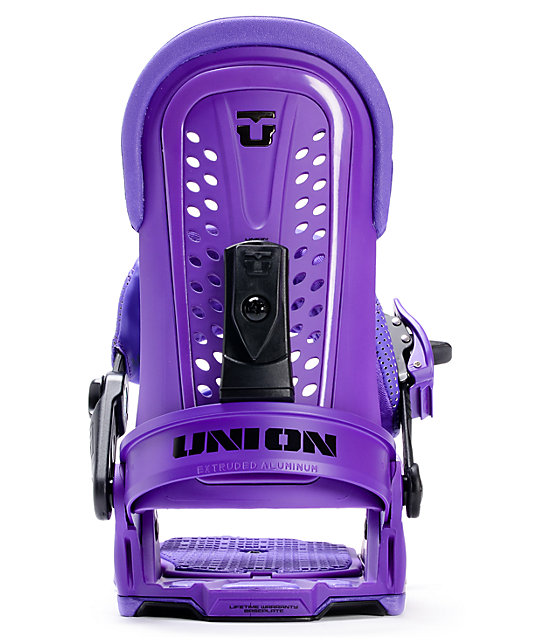 Union Force Purple Snowboard Bindings