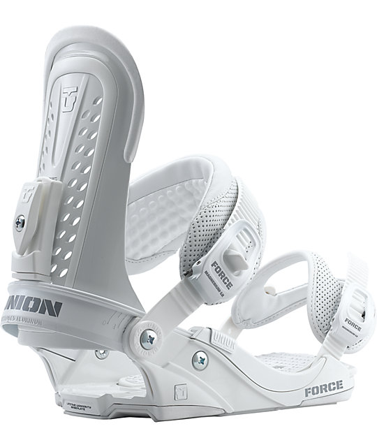 Union Force White Mens Snowboard Bindings