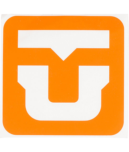 Union Orange Logo Die Cut Sticker